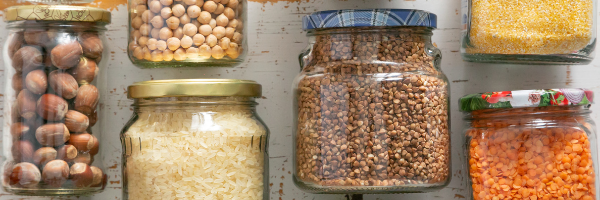 jars with seeds and spices