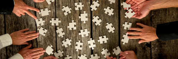group with puzzle pieces