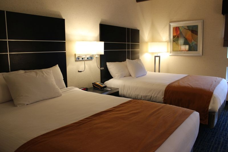 double beds room inside Warehouse Hotel