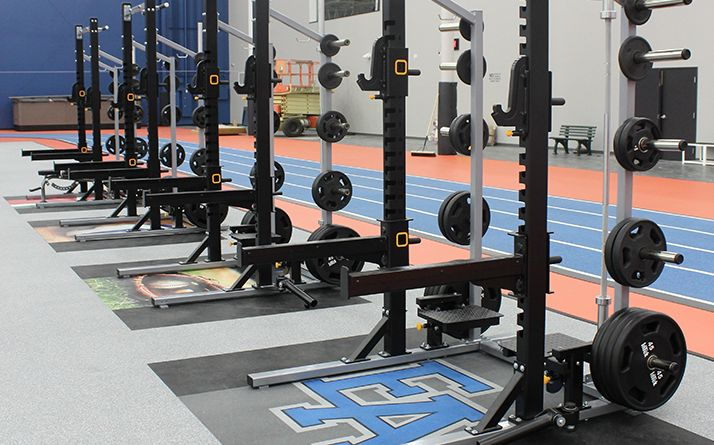 squat racks at Spooky Nook Sports
