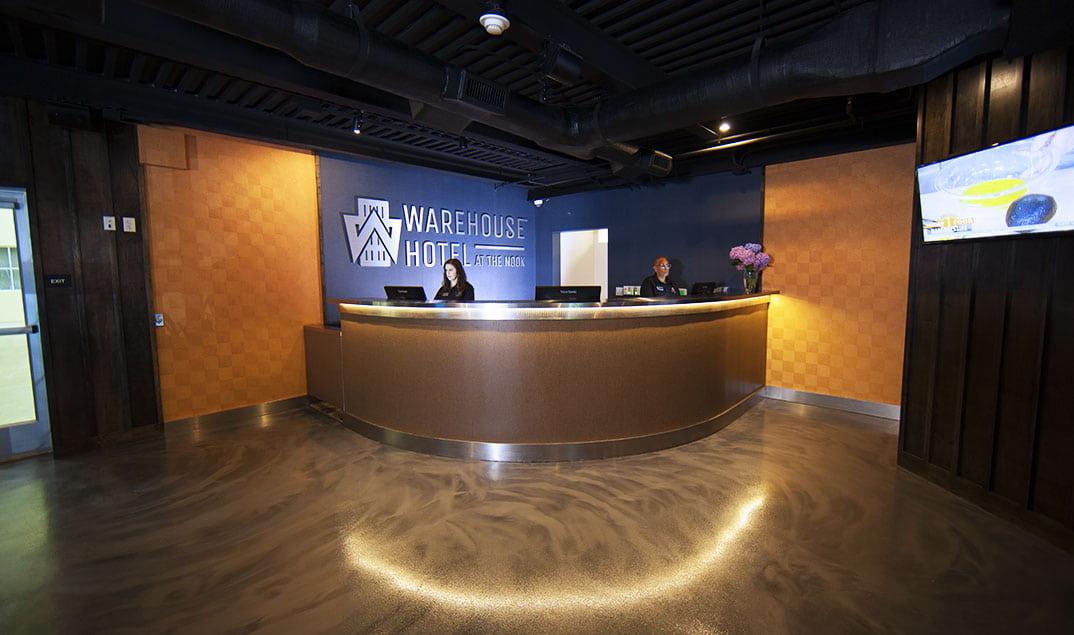 Warehouse Hotel lobby