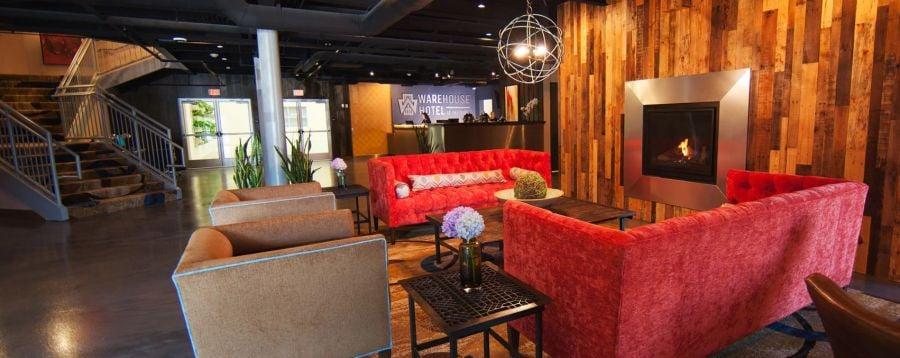 lobby of Warehouse Hotel