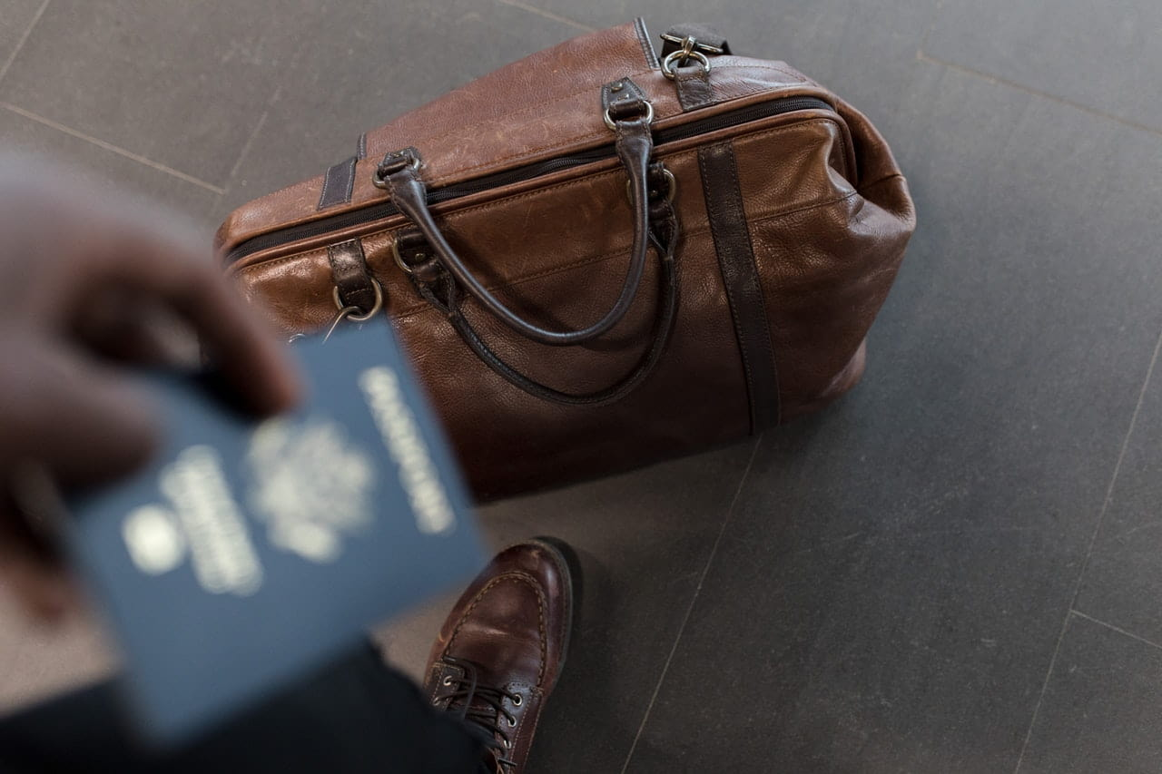 luggage and passport