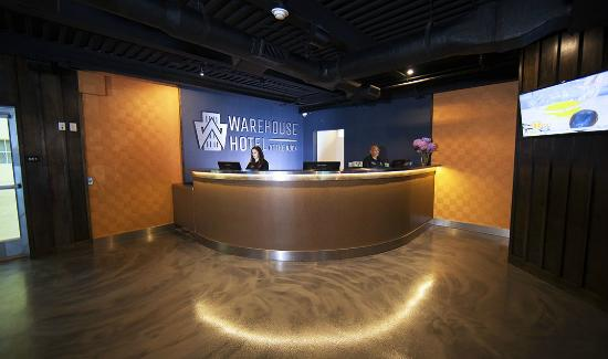 front desk at Warehouse Hotel